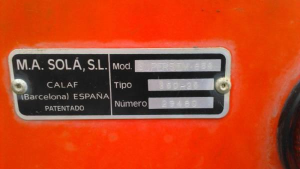 Sembradora SOLA 3.5 metros